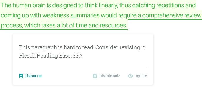 Readability Reports